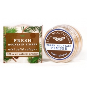 Fresh Mountain Timber Solid Cologne by Live Beautifully