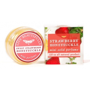 Strawberry Honeysuckle Solid Perfume by Live Beautifully